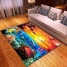 Teppich Wohnzimmer,Moderner Ozean Thema Kunstdruck