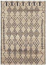 Teppich Wohnzimmer Orient Carpet Design AMIRA MOROC CAN RUG 100% Wolle 200x300 cm Rechteckig Grau | Teppiche günstig online kaufen