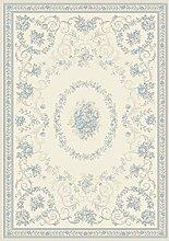 Teppich Wohnzimmer Orient Carpet Design ECHO DAUPHIN RUG 100% Polypropylen 120x170 cm Rechteckig Weiß | Teppiche günstig online kaufen