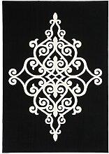 Teppich Wohnzimmer Orient Carpet klassisches Design RUG Manolya 2099 Schwarz 200x290cm | Teppiche günstig online kaufen