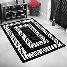 Teppich Wohnzimmer Orient Carpet klassisches Design TOSCANA RUG 120x170 cm BLACK | Teppiche günstig online kaufen