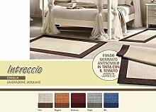 Teppich Wohnzimmer Position Geflecht 110x160 grau