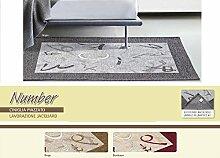 Teppich Wohnzimmer Position Number 85x150 bordeaux
