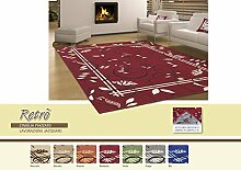 Teppich Wohnzimmer Retro 115x175 grau