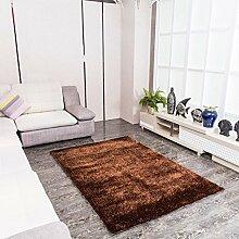 Teppich Wohnzimmer Sofa Teppich, Schlafzimmer Full Floor Bettdecke ( Farbe : Braun , größe : 71×141cm )