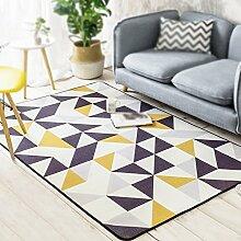 Teppich Wohnzimmer Sofas Couchtisch Pad / moderne einfache geometrische Home Schlafzimmer Bettdecke / Balkon geometrische Teppich / Bett Bettdecke ( größe : 50*80cm )