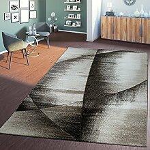 Teppich Wohnzimmer Toscana Modern Braun Beige Meliert mit Konturenschnitt, Größe:240x340 cm