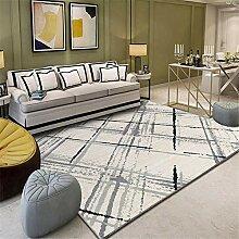 Teppich wohnzimmercouch Waschbarer schwarzgrauer