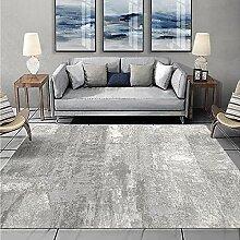 Teppich wohnzimmerdeko Einfache saubere graue