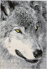 Teppich Wolf, grau (80/150 cm)