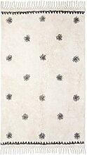 Teppich Woody schwarz/weiß Größe 70 x 170 cm