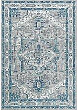 Teppich Yuri in Hellgrau/Blau
