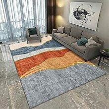 Teppich Zimmer deko Teppich Blaue gelbe graue