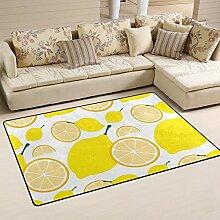 Teppich, Zitronenmotiv, für Wohnzimmer,