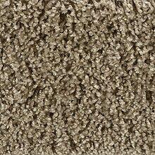 Teppichboden Auslegware Hochflor Shaggy Langflor Velour braun 400 und 500 cm breit, verschiedene Längen