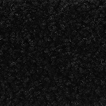 Teppichboden Auslegware Meterware Hochflor Shaggy Langflor Velour schwarz 400 und 500 cm breit, verschiedene Längen