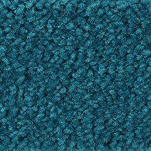 Teppichboden Auslegware Meterware Hochflor Shaggy Langflor Velour türkis blau 400 und 500 cm breit, verschiedene Längen