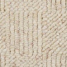 Teppichboden Auslegware Meterware Schlinge meliert gemustert weiß 400 und 500 cm breit, verschiedene Längen
