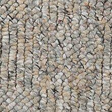 Teppichboden Auslegware Meterware Schlinge meliert gemustert grau beige 400 und 500 cm breit, verschiedene Längen