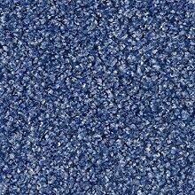 Teppichboden Auslegware Meterware Velour blau 400 und 500 cm breit, verschiedene Längen