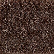 Teppichboden Auslegware Meterware Velour meliert braun 400 cm und 500 cm breit, verschiedene Längen