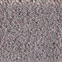 Teppichboden Auslegware Meterware Velour meliert grau hell 400 cm und 500 cm breit, verschiedene Längen