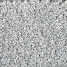 Teppichboden Auslegware Meterware Velour meliert grau weiß 400 cm und 500 cm breit, verschiedene Längen