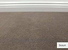 Teppichboden Auslegware Vorwerk Bijou UNI Braun 400 x 700 cm 19,80 EUR / m²
