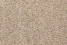 Teppichboden Shaggy Hochflorteppich Bodenbelag Auslegware Uni beige 600 x 400 cm. Weitere Farben und Größen verfügbar