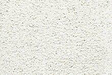 Teppichboden Shaggy Hochflorteppich Bodenbelag Auslegware Uni weiß 450 x 400 cm. Weitere Farben und Größen verfügbar