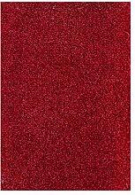 Teppichboden Verlours Auslegware Uni rot 350 x 400