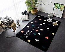 Teppiche Anti-Skid Yoga Teppich für Wohnzimmer Teppiche Schlafzimmer Schwarz (145cm x 195cm) , white6 , 145x195cm