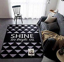 Teppiche Anti-Skid Yoga Teppich für Wohnzimmer Teppiche Schlafzimmer Schwarz (145cm x 195cm) , O , 145x195cm