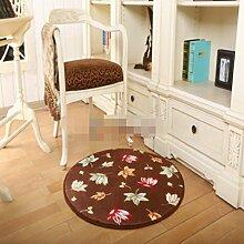 Teppiche Bereich Blume europäisch anmutende Bett Teppich Computer-Stuhl-Decke-A 40x60cm(16x24inch)
