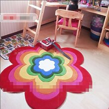 Teppiche Bereich Dicke Acryl Runde Wolldecke Kinder Zimmer Schlafzimmer Bettdecke Computer-Drehstuhl-Teppich-A Durchmesser 90 cm (35 Zoll)