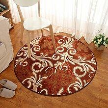 Teppiche Bereich Schlafzimmer Teppich schlüpfen Runde Wolldecke Wohnzimmer Couchtisch gepolsterte Teppich Korallen Plüsch gemusterte Teppiche und Schlafzimmer Erker Teppich [Schlafzimmer-Fenster und Teppiche]-A Durchmesser200cm(79inch)