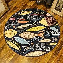 Teppiche Cartoon kleine Fische Schlafzimmer Runde,