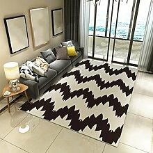 Teppiche Einfache Moderne Nordic Europäischen Wohnzimmer Couchtisch Schlafzimmer Teppich Dicke Wohnzimmer Studie Nachtdecke 120 × 160 Cm ( Farbe : D )