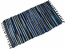 Teppiche Famibay Bereich Teppich Rutschfest Chindi Recycelt Baumwolle Teppich Mehrfarbig Flickenteppich für Wohnzimmer 60x120cm/24x47in (ca.)