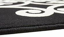 Teppiche Flachflor Klassisch Oriental Ornament Teppich Schwarz NEU Angebot , Größe:160cm x 230cm