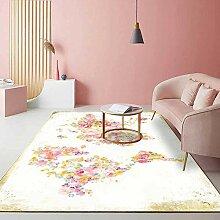 Teppiche Flur deko Rosa gelber weißer