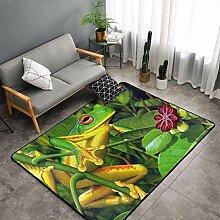 Teppiche, Froschgrüner Teppich für Schlafzimmer,