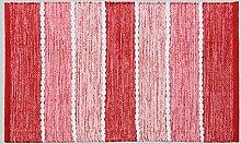 Teppiche Handgefertigte Baumwolle Matratze Tür Pad Schlafzimmer Wohnzimmer Bedside Blanket Geometrie Einfach (Pink) (größe : 60*90CM)