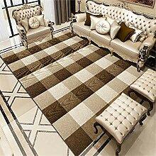 Teppiche Kamin deko Braun gelb gestreiftes