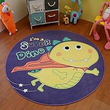 Teppiche Runder Cartoon Carpet Computer-Drehkissen