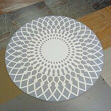 Teppiche Runder Teppich Einfach Modern Der Teppich Für Das Wohnzimmer Teetisch Decke-E 160x160cm(63x63inch)