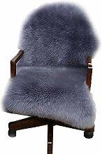 Teppiche, Schaffell Grau Flauschige Wolle Reines