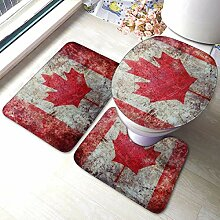 Teppiche-Sets 3-teiliger Retro-Teppich mit