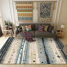 Teppiche sitzecke Teppich Blauer beige rustikaler