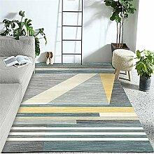 Teppiche sitzecke Teppich Gelb blau grau